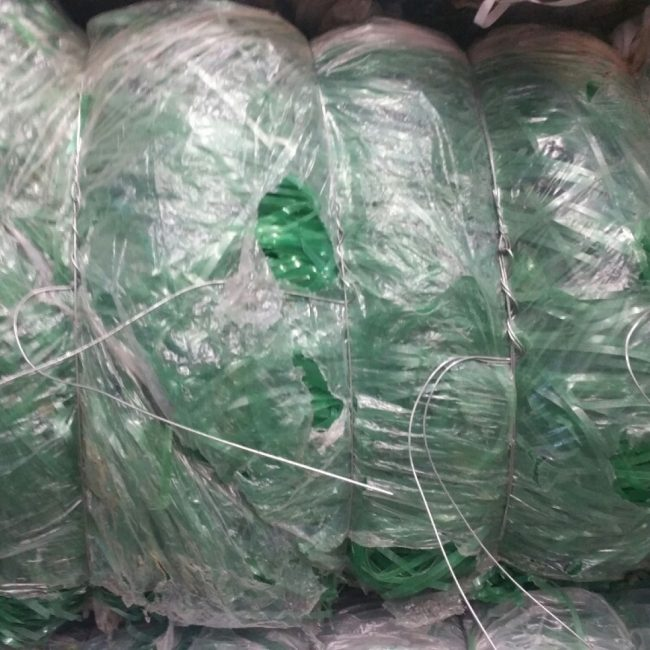 PET Baled Green Strapping Recycling